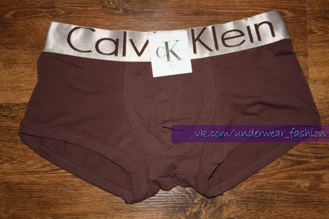 Мужские боксеры Calvin Klein Boxer Steel Brown - фото №2