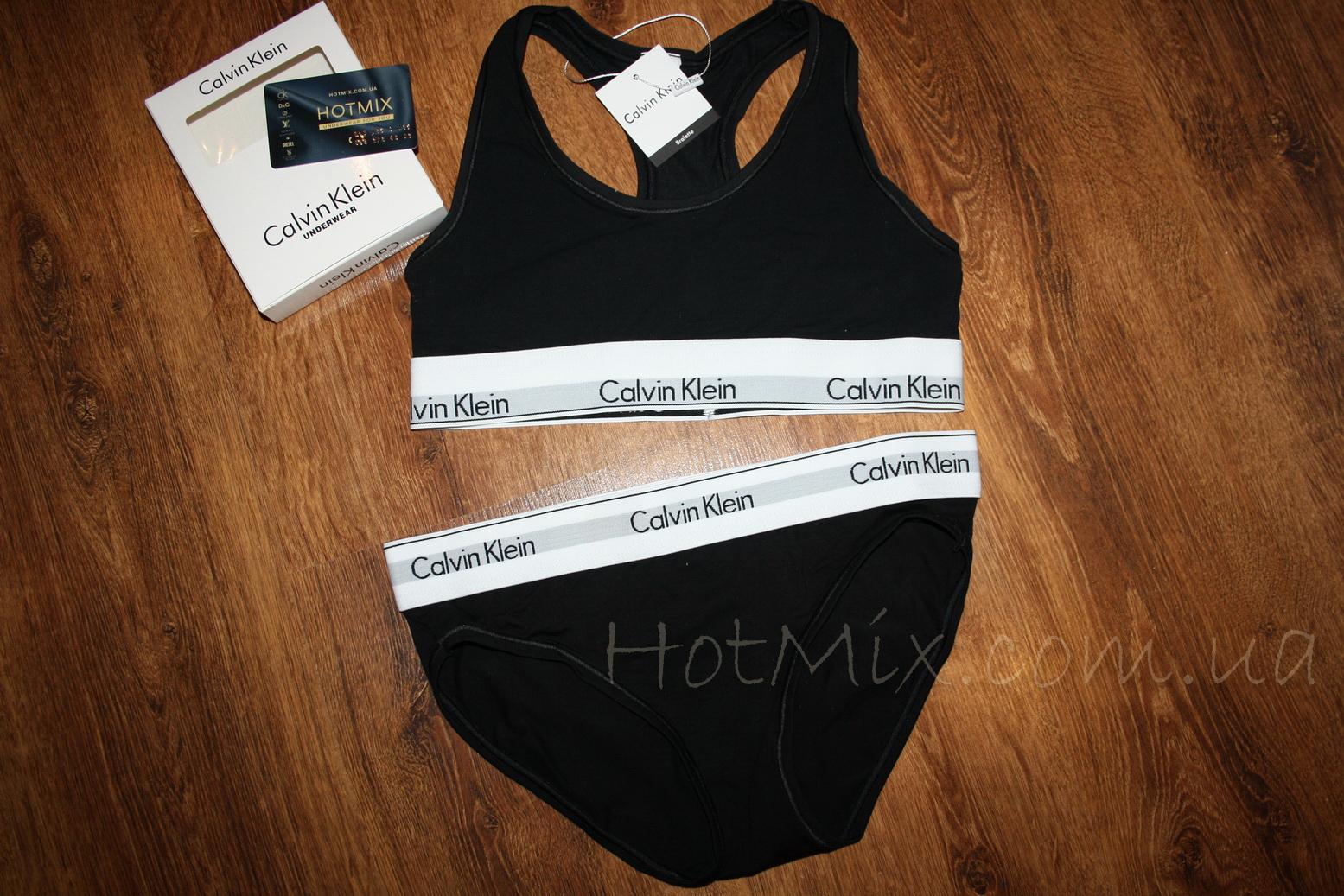 55d7301154d6 Спортивный комплект Calvin Klein Топ Трусы черный
